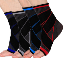 Ankle Support Volleyball Basketball Ankle Brace Stick On Pad Feet Achilles Tendon Support Taekwondo Foot Bandage Protective Gear(China)
