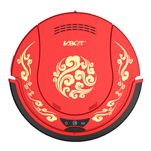 Intelligent automatic charging sweeping robot household ultra-thin mute vacuum cleaner Chinese red(China)