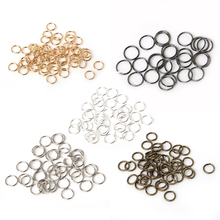 Beadia 600pcs 0.8*8mm/0.9*10mm link loop Silver Gold Rhodium Black Bronze Open Jump Ring for DIY Jewelry Findings(China)