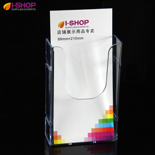 DL Acrylic Counter Top/Wallmount Brochure Holder Single Pocket Holder 1/3A4 Links Side By Side PZG-017(China)