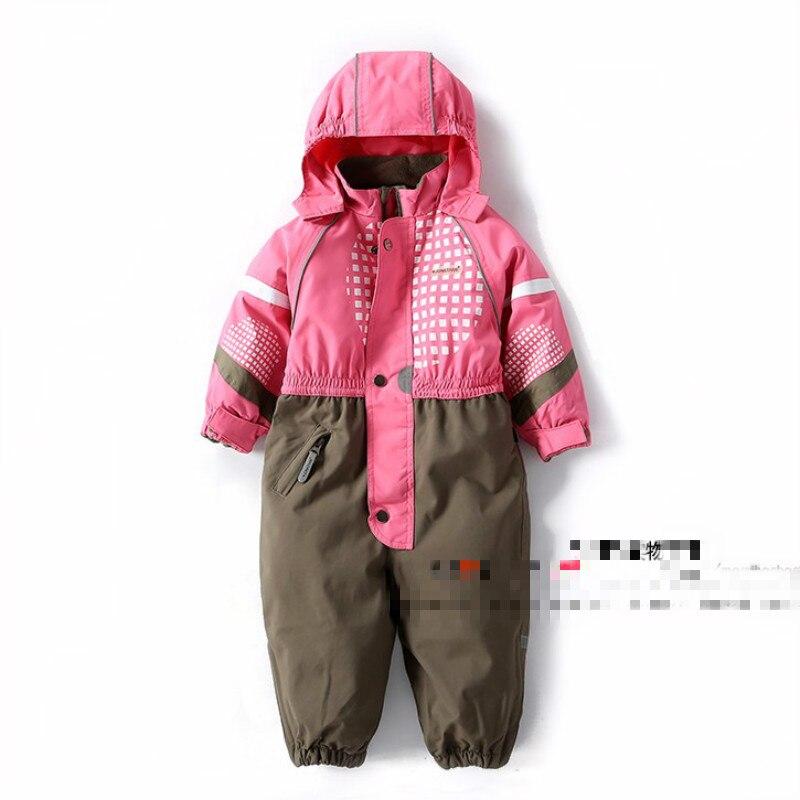Winter Hooded Outwear Jumpsuit Kids Baby Jumpsuit Jacket Coat Children Outerwear Windproof Waterproof Jacket Ski-wear Clothing<br>