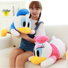 New Arrival 23cm Staffed Animal Toys Dolls Soft Cute Lying Donald Duck Plush Toys Mickey Minnie Gifts for KIds Girls
