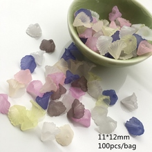 Meideheng Plastic Translucent Frosted wave little trumpet flower Beads Fit Jewelry DIY Craft Accessories 11*12mm 100PCS/bag(China)