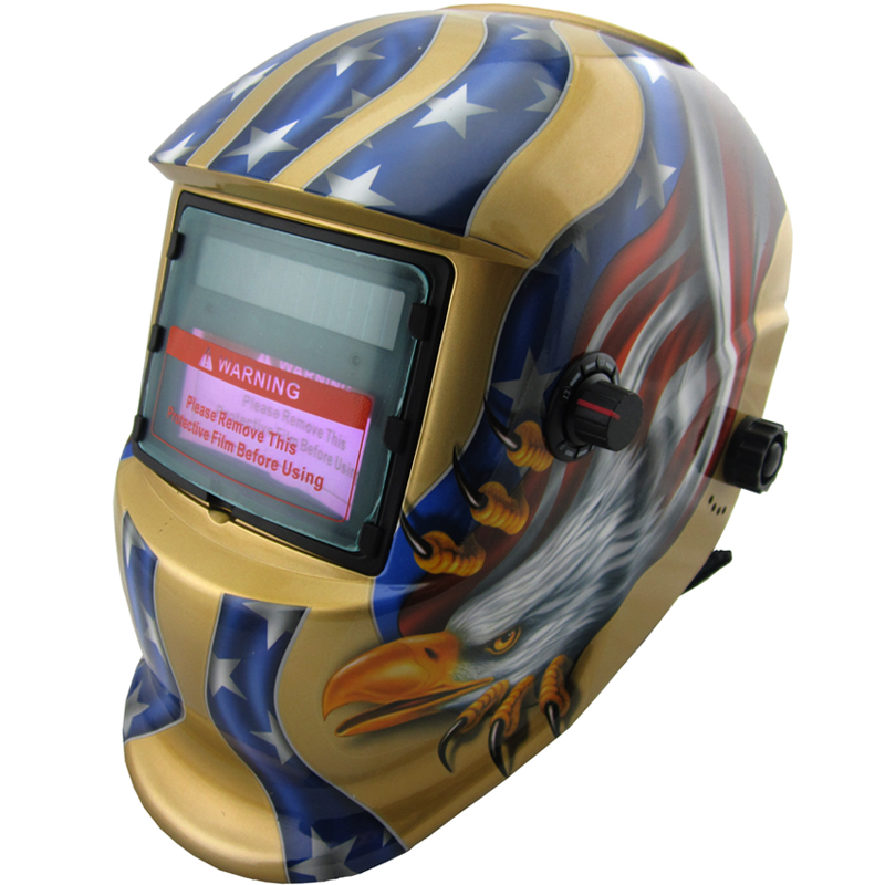 Cheap Nice apperance LI battery +Solar power  auto darkening/shading with grinding function welding helmet/welding mask<br>