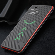 For HTC 620 g Slim Dot Dotted Bag Smart Auto Sleep Wake View Silicone Phone Case Original Flip Cover For HTC Desire 620 G 620G