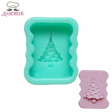 Baycheer Silicone Christmas Tree Cake Mold For Chocolate Fondant Jelly Handmade Soap Decorating Tool(China)