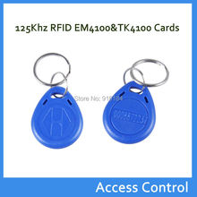 100PCS/Lot ABS 125Khz EM4100 TK4100 Chip Proximity RFID ID Token / Keyfob / Keychain Card /Tag /RF Card For Attendance System(China)