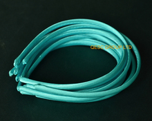 NEW LT aqua teal blue 7mm satin headband for sinamay fascinator hat.