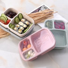 Japanese Lunch Boxs  Box 3 Grid With Lid Microwave Food Box Fruit Storage Container Boxes Dinnerware Set For Kids Picnic Food
