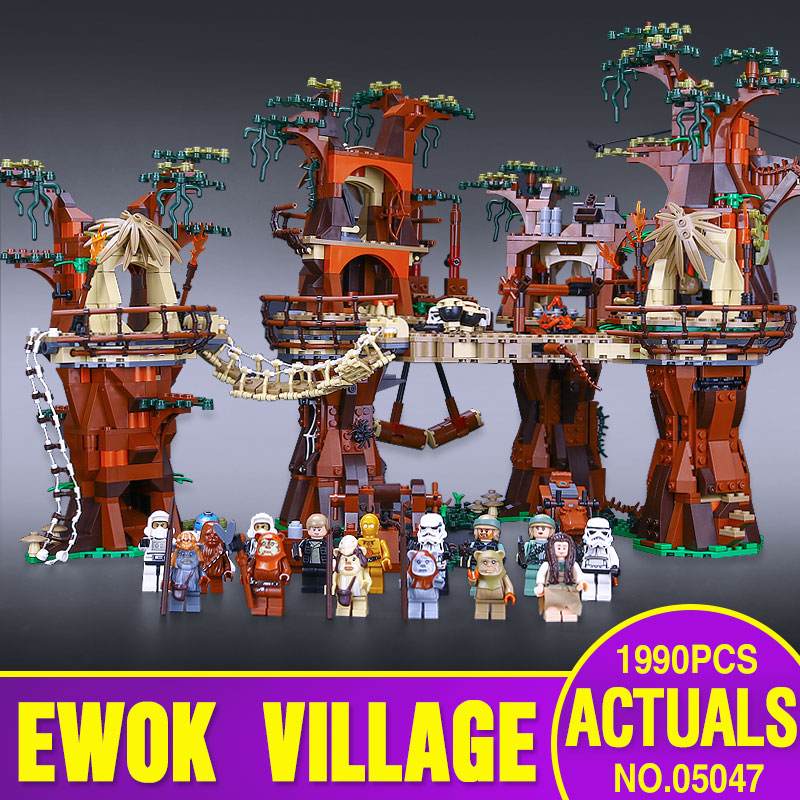 1990pcs Lepin 05047 Star Wars Ewok Village Buildi...