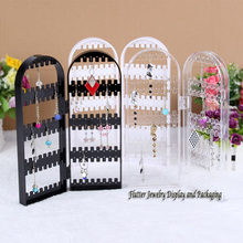 Quality Acrylic Earring Display Stand Jewelry Dislay Props 120 Holes Earring Showing Rack Necklace Holder Earring Foldable Props