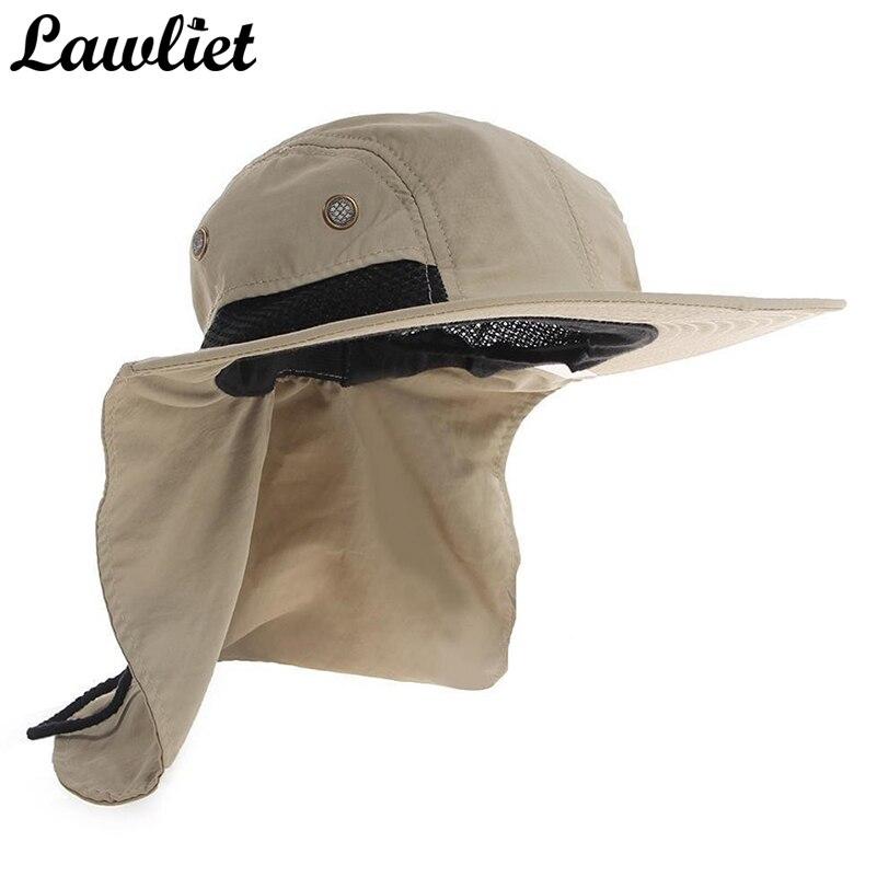 New Brand Chapeau Sun Hat for Man Sunshade Fishing Bucket Hat Summer Hat  Climb Mountain Jungle d1e638271977
