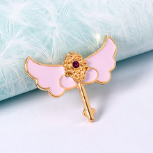 2016 fashion girls love wings Pink is tender drops of oil ring Ms exaggerated atmosphere ring Ms ring