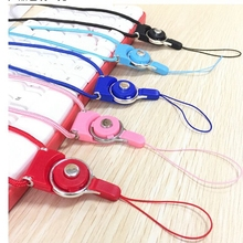 1000pcs/lot Rotation Mobile Phone Neck Chain Straps Key Keychain Hang Rope Lariat Lanyard Detachable Camera Straps