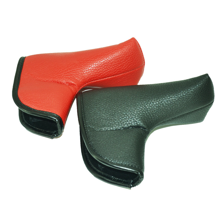 2018 Latest Golf Putter Club Protective Cap PU Leather Straight Golf Head Cover Black Red 2Colors5