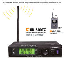 UHF transmitter(mono) with multiple receivers 5100R Lavalier Receivers Wireless In Ear on stage Monitor System Stereo earphones
