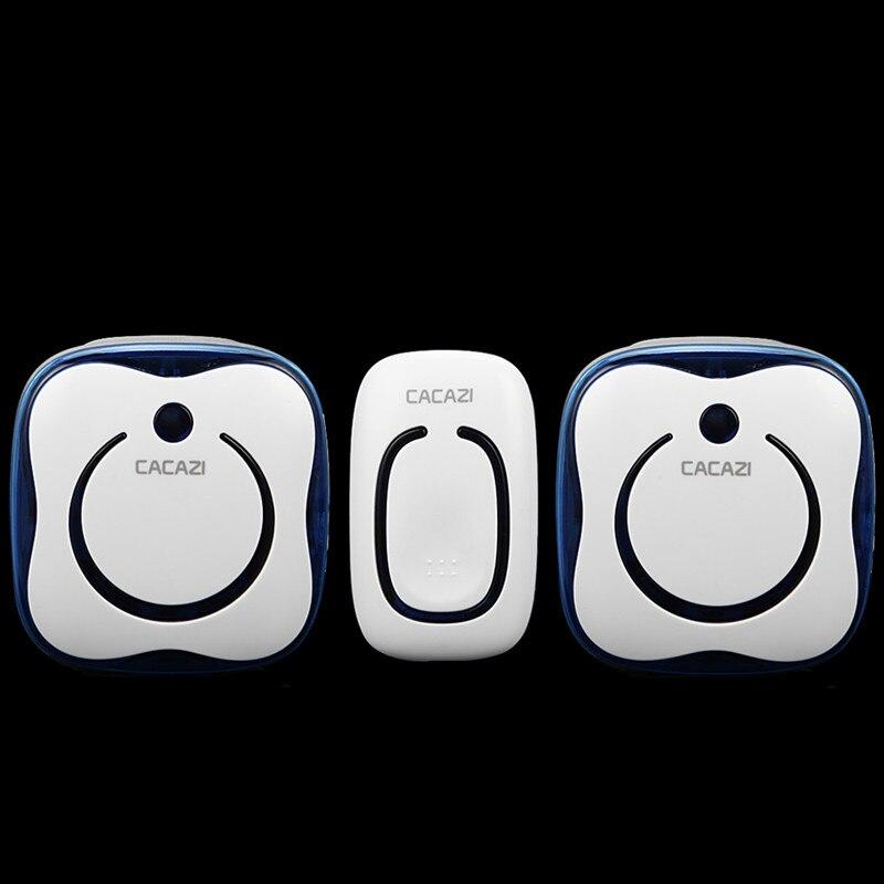 Remote Control Alarm LED Door Bell Patient pager Waterproof Smart home 1+2 design Wireless Doorbell 280M range 36 Ring tunes<br><br>Aliexpress
