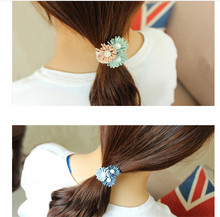 Women Summer Style Hair Accessories Handmade 3 Pearls Elastic Hair Bands Gum For Hair Acessories Para Cabelo Tassel Scrunchy