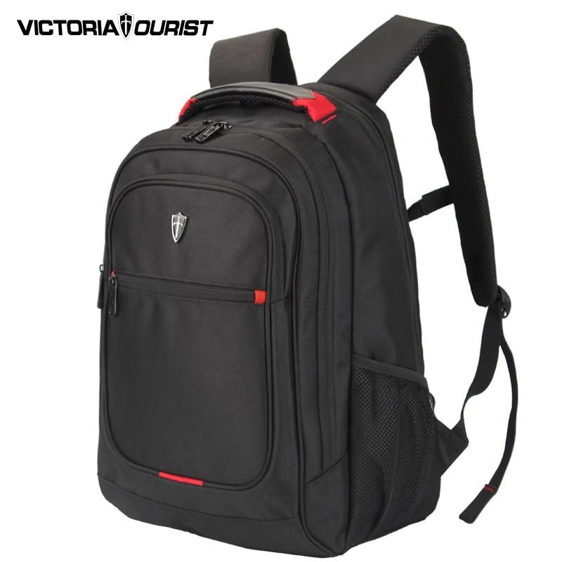 VICTORIATOURIST 15.6 inch ballistic nylon laptop backpack men/ ergonmic back design/business and leisure backpacks V6019 black<br>