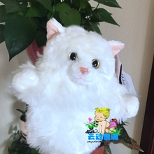 Large Hand Puppet Doll Toy Persian Cat Dolls Plush Children'S Toys Puppets Gifts(China)