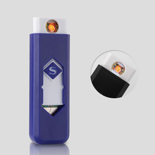 Cheap USB Electronic Lighter Rechargeable Lighter Cigarette Lighter Plasma Flameless Windproof Smoking Tool Gift Gadgets For Men