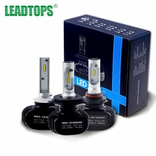 LEADTOPS H4 LED H7 H11 H1 9005 9006 COB S Auto Car Headlight 50W 8000LM High Low Beam Automobiles White LED Light 6000K DJ(China)