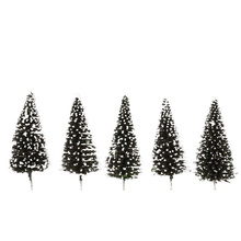 1:50 Scale Cedar Trees Model 10Pcs Architectural Model for Railroad Layout Beauty Trees Landscape Diorama Miniatures Model Toys
