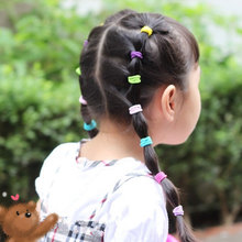 100 Pcs Children Kids Elastic Hair Bands Cute Hairband Rubber Ropes Elastics Hair Accessories For Hair Tie Ornament Headbands(China)