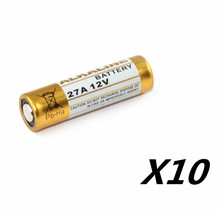 10PCS 27A 12V dry alkaline battery 27AE 27MN A27 for doorbell,car alarm,walkman,car remote control etc(China)