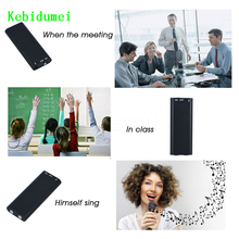 Kebidumei Multifunction Digital Audio Voice Recorder Dictaphone Stereo MP3 Music Player 8GB Memory Storage USB Flash Disk Drive(China)