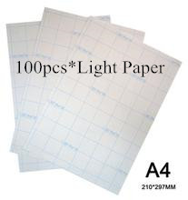100pcs/Lot A4 Size Inkjet Paper Heat Transfer Printing Paper Light Color Hot Transfer Paper For Clothes Iron On Paper For Textil