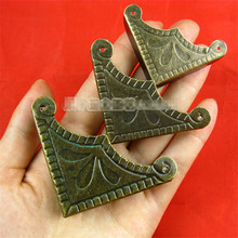 39mm /48mm 56mm Clover Bronze Antique Angle  Hardware Fittings corners Metal corner Metal angle Vintage 100pcs/lot