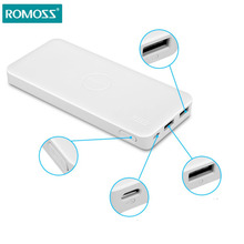 ROMOSS 10000mAh Power Bank Polymos 10 5V 2.1A External Battery Pack Charger Backup Battery Dual USB 37Wh for Mobile Phones Mp3