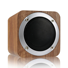 6W Wooden Wireless Speaker Portable Bluetooth 4.0 Speakers with 70mm Big-Driver Computer Speaker with Enhanced Bass Resonator(China)