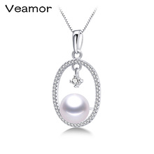 Lowest Price Fashion Party Jewelry 100% Natural Freshwater Pearl Pendant Necklace For Women White/Pink/Purple/Black Gift box