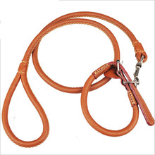 98*1.5cm New brand Genuine Leather Large Dog Leashes Pet Traction Rope Collar Set for pet collar product supplie(China)