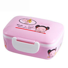 Insulation Plastic Meal box bento for Kids Food Container Sushi Set Meal box Food Box Microwave