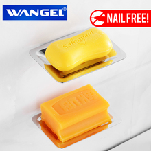 Wangel Free Shipping Soap Holder/Soap Box/Soap Dish/Soap Case Stainless Steel Modern Bathroom Accessorie Chrome Nail Free(China)