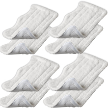 8pcs Replacement Microfiber Cloth Pad Cover for H2O Steam Mop S3111 (White)