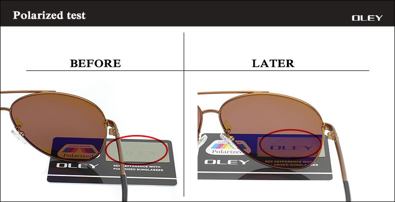 OLEY Luxury sunglasses men polarized Classic pilot Sun glasses fishing Accessories driving goggles gafas de sol zonnebril mannen 15