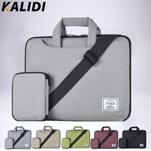 KALIDI Waterproof Shoulder Messenger Bag Travel Laptop Sleeve Netbook Cover Case Pouch for Men Women Laptop Bag 13.3-15.6 inch(China)