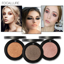Brand FOCALLURE Makeup Pigment Eyes Glitter Eye Shadow Waterproof Make Up Minerals Metallic Eyeshadow Single Palette