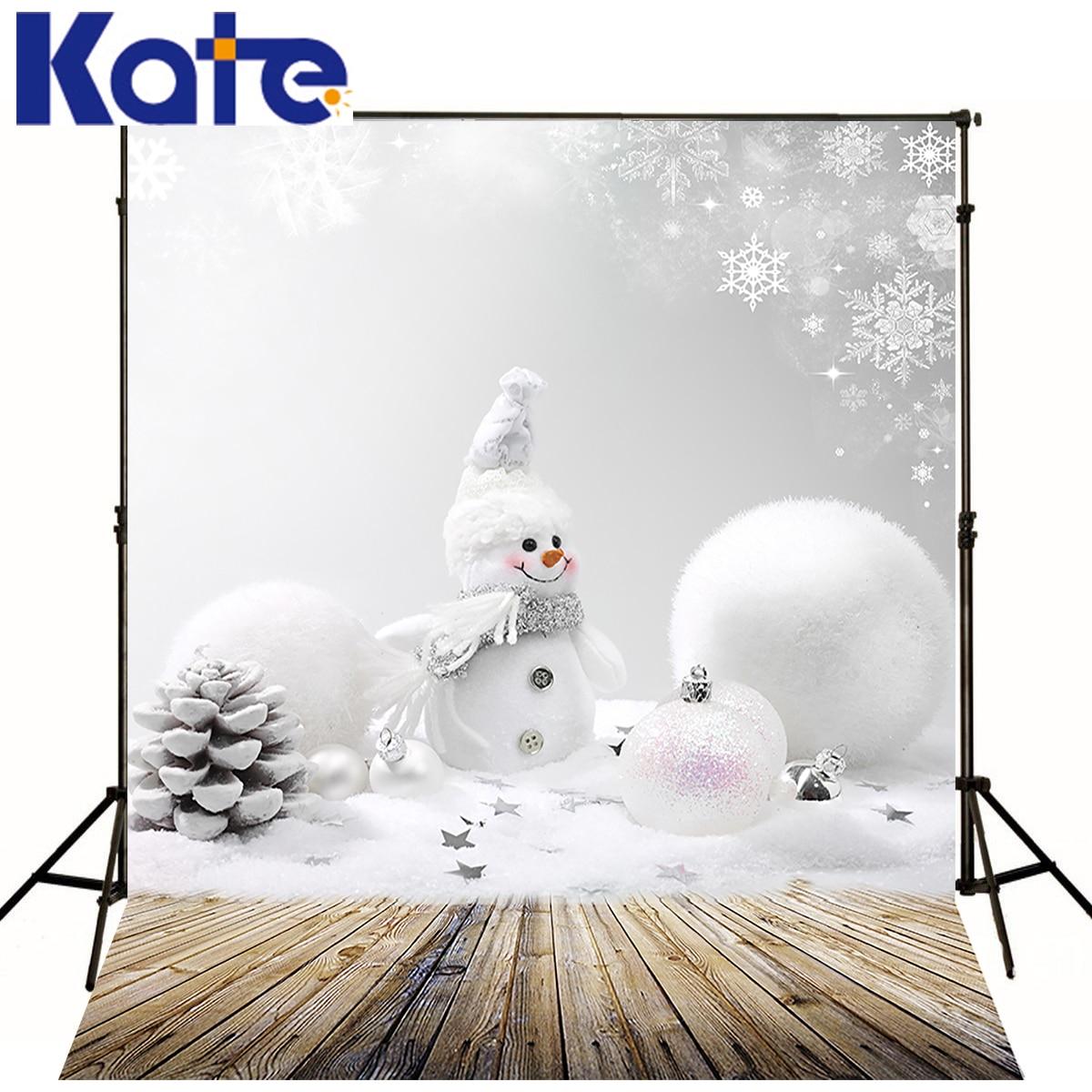 Kate Photography Backdrop 5x7ft Wood Floor Backdrops Snowflake Christmas Backdrop Bolas Navidad Boneco De Neve Photo for Studio<br>