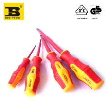 free Shipping 4PC mixed size BOSI Magnetic VDE Insulation PH screwdrivers 1000v electrician tools