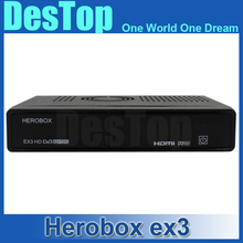 HEROBOX EX3 hd DVB-S2/T2/C tuner 751MHZ MIPS Processor 256MB Flash 512MB DDR3 Linux OS Support DHL free shipping 2pcs/lot
