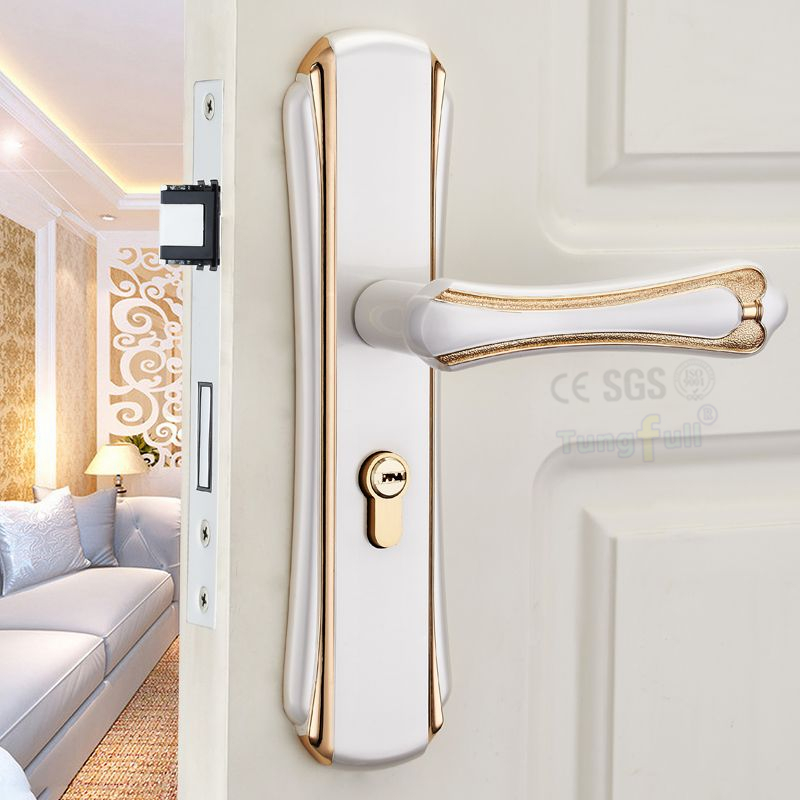 Top Quality Security Entry Doors Mortise Lever Lockset Silent Lock-Core Door Handle Lock<br><br>Aliexpress