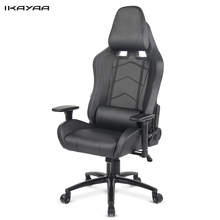iKayaa FR US Stock Gaming Chair Computer Chair W/ Recline Height Armrest  Tilt Swivel Function Silla Oficina Bureau Meuble