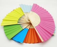 Fold Fan Children Painting Painted White Color Fan Kindergarten School Creative DIY Handmade Material Paper Fan Party Decoration(China)