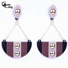 Cheap Price Wholesale South America Brazil Style Handbag Pattern Plated Gold Resin Drop Earrings For Women 6 Colors(China)