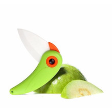 HOT Bird Ceramic Knife Pocket Folding Bird Knife Fruit Paring Knife Ceramic With Colourful  Kitchen Tools Gadget